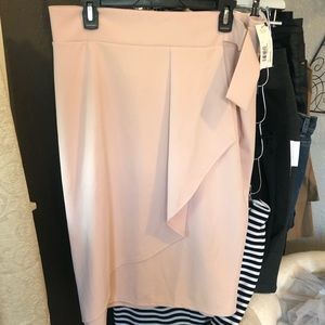 NWT pink career skirt